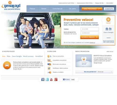 Home Page Portale